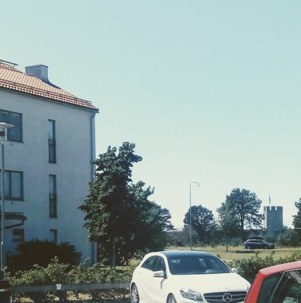 """Norrbacka IP, Visby. """"Norrbackaplanen"""" låg strax intill Konditori Norrgatt på norr i Visby. Under slutet av 1980-talet och på 90-talet var hon Visby AIK:s hemmaplan."""