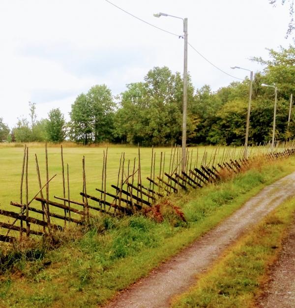Hemses första fotbollsplan låg snett bakom kyrkan vid änget Hulte Kruppar, där Hundklubben håller till idag. Hemse IF och Hemse BK:s hemmaplan, från 1927-1941.
