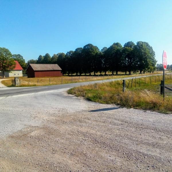Tingsvallen, Kräklingbo. 1952 invigde Torsburgs Bollklubb sin gräs/sandplan med måtten 98x50 meter vid Wimans gård vid Tings, mellan Ala och Kräklingbo. Vi står vid den västra sidolinjen, den östra gick längs alle'n. Någon gång under 1960-talet kom den nya landsvägen som skar sönder Tingsvallen, mitt itu. Seriespel 1952/53 och 1953/54. TBK drog sig ur serien, på våren 1954.