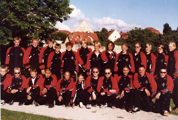 Gotländska Island Games truppen i simning 1999 på Gotland